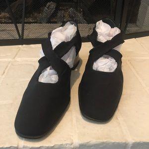 Stuart Weitzman Black Slip On Heel